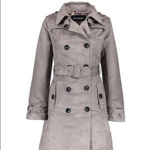 Steve Madden Suede Trench Coat NWT